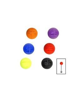 Embout piercing langue boule style ballon silicone souple