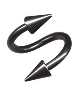 Piercing spirale spike double pique acier