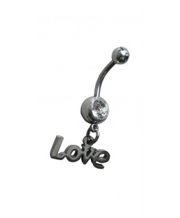 piercing love nombril strss blanc