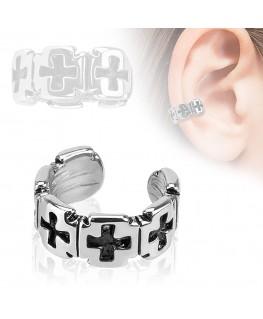 faux piercing oreille croix