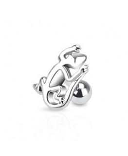 piercing tragus salamandre bijoux motif lezard oreille helix