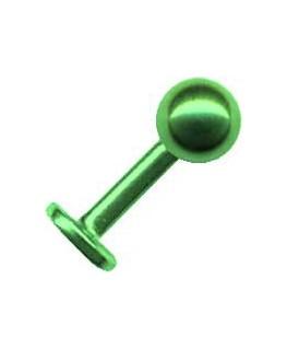 Piercing labret tragus boule acier vert