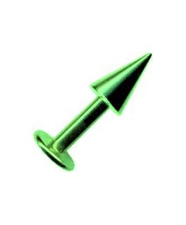 piercing labret tragus spike pique acier vert