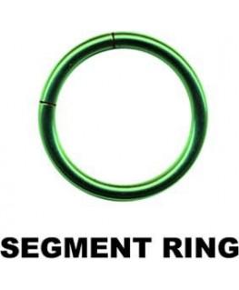 Piercing anneau segment teton arcade tragus acier vert