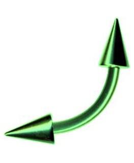 piercing arcade teton spike acier pique vert