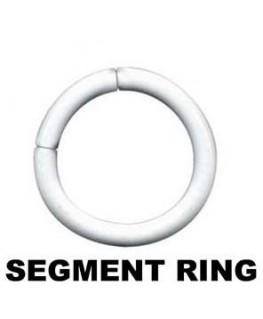 Piercing anneau segment teton arcade tragus acier blanc
