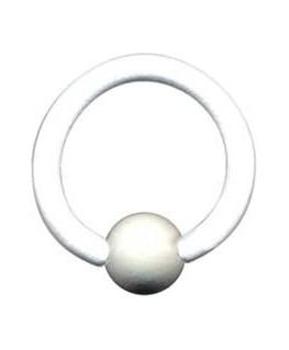 piercing anneau blanc teton nez oreille trgus boule blanche