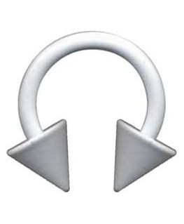 piercing fer a cheval circulaire spike acier pique blanc