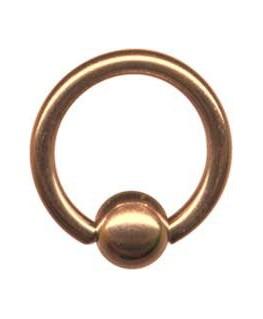 piercing anneau teton nez oreille tragus boule acier couleur doré rose