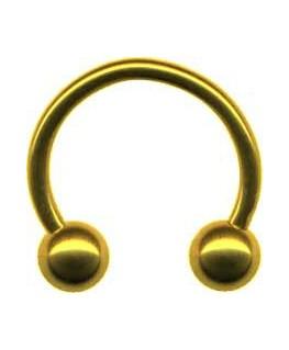 Piercing arcade teton fer a cheval circulaire boule couleur doré