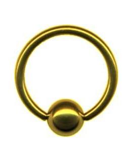 piercing anneau captif boule de serrage couleur dore