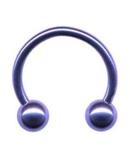 piercing boule fer a cheval circulaire acier violet boule