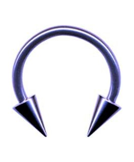 piercing fer a cheval circulaire spike acier couleur violet