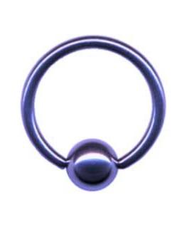 piercing anneau captif boule de serrage couleur violet