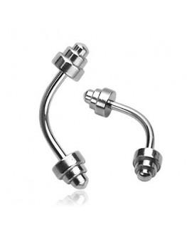 Piercing d arcade sourcil altere sport muscu acier musculation oreille lobe helix