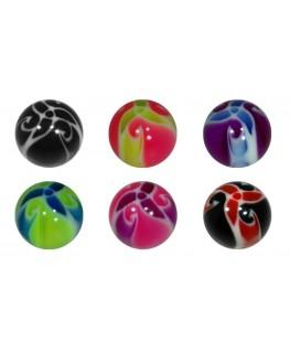 Piercing tragus boule labret levre couleur helice pleine arcade lot de 12 oreille