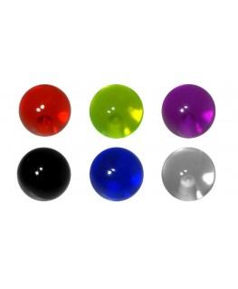 LOT DE 12 Accesoire piercing bonbon sucette tourbillon ball bille avec de la couleur filetage 1.6mm boule 6mm langue