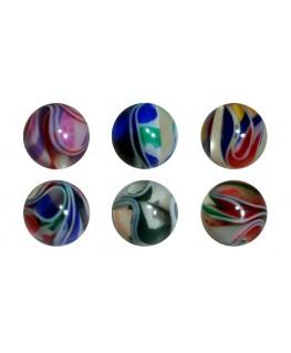 Piercing nombril lot paillette 6 boule couleurs planete galaxie
