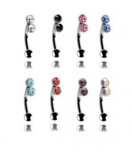 piercing arcade double strass