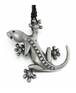 pendentif lezard salamandre en étain