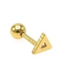 Piercing tragus triangle creux couleur doré oreille