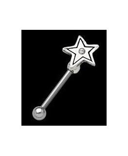 piercing arcade barre droite étoile