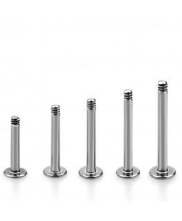 Piercing tragus barre labret tige levre acier 1.2mm 1.6mm