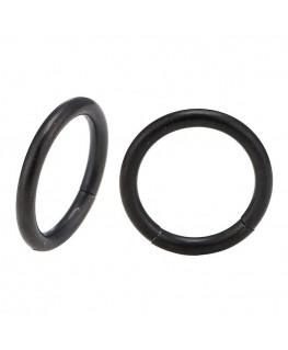 Piercing anneau segment a clipser acier noir