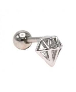 Piercing w tragus helix cartilage oreille en forme de diamant acier