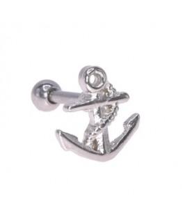 Piercing lobe oreille cartilage ancre marine de bateau acier chirurgical 316L