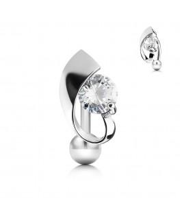 Piercing pour le Nombril - Conception des bijoux inversé strass