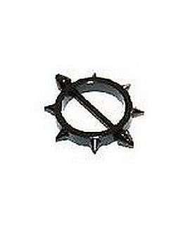 piercing téton anodisé noir rond multispike