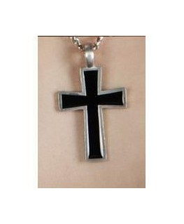 Pendentif croix noir