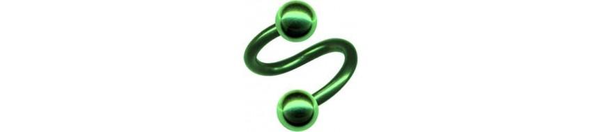 Piercing Vert Acier