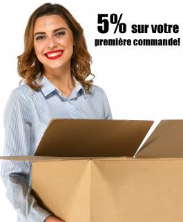 5% sur votre première commande