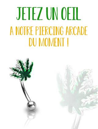 Le piercing arcade du moment